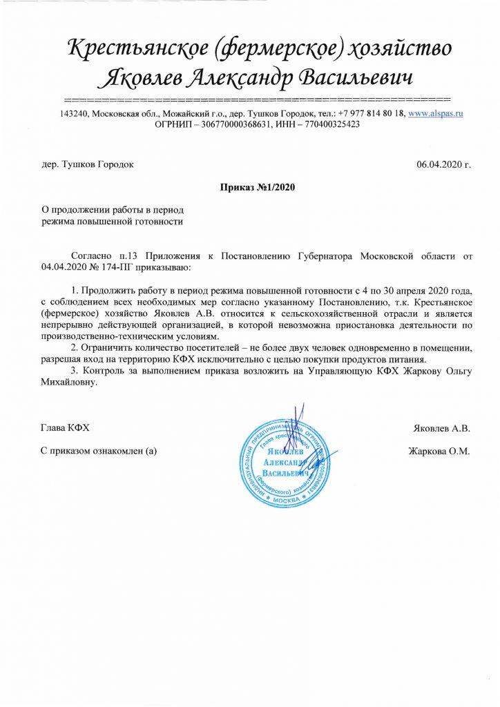 Документы согласно постановлению Губернатора М.О.